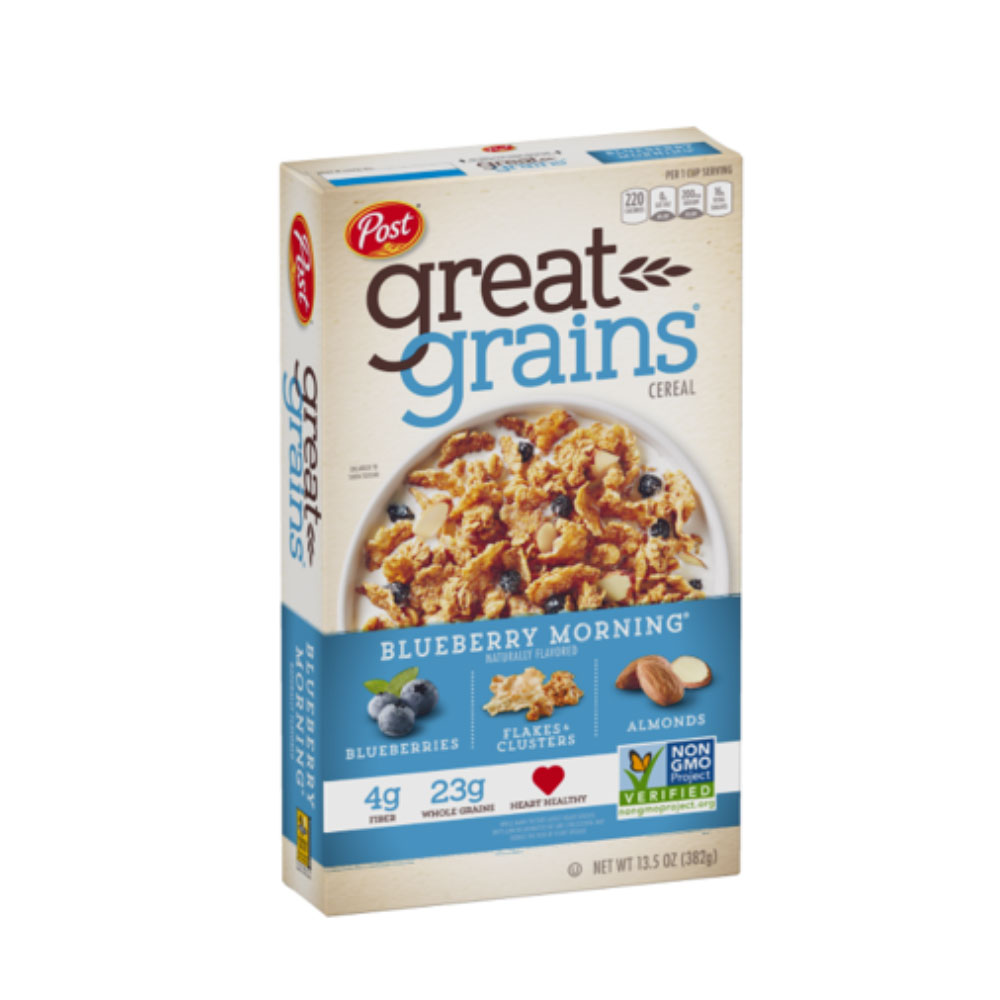 Great Grains Cereal By POST- Blueberry Morning 382g X 1
