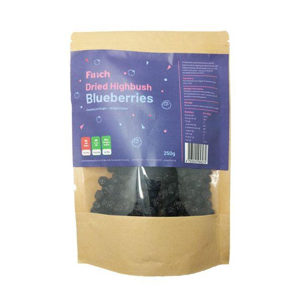 Dried Highbush Blueberries 250g