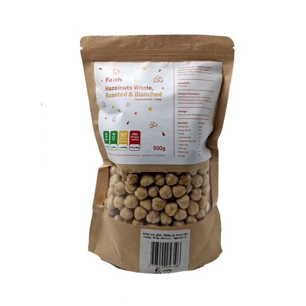 Hazelnuts Whole, Roasted & Blanched 500g